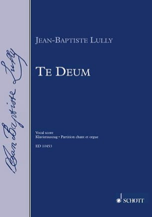 Te Deum LULLY Partition Chœur - laflutedepan