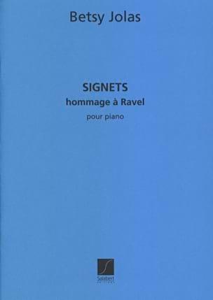 Signets - Betsy Jolas - Partition - Piano - laflutedepan.com