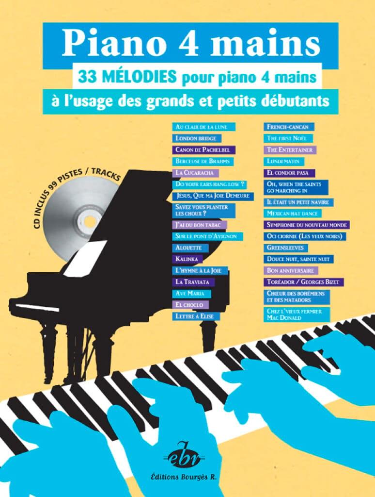 33 Mélodies. 4 Mains - Partition - Piano - laflutedepan.com
