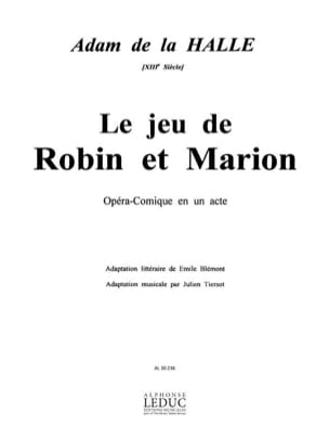 Le Jeu de Robin et Marion Halle Adam de La Partition laflutedepan