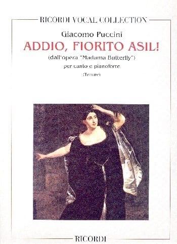 Addio, Fiorito Asil. Madama Butterfly - PUCCINI - laflutedepan.com