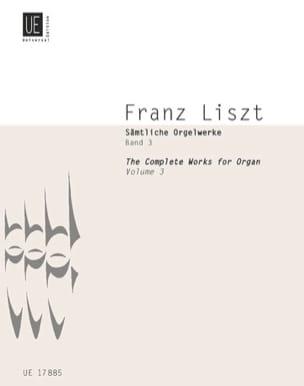 Oeuvre D'orgue Volume 3 LISZT Partition Orgue - laflutedepan