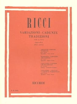 Variations. Cadences. Traditions, Appendice 1 Luigi Ricci laflutedepan