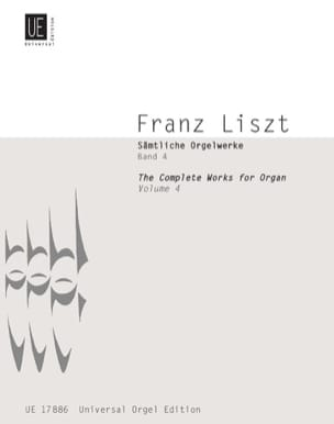 Oeuvre D'orgue Volume 4 LISZT Partition Orgue - laflutedepan
