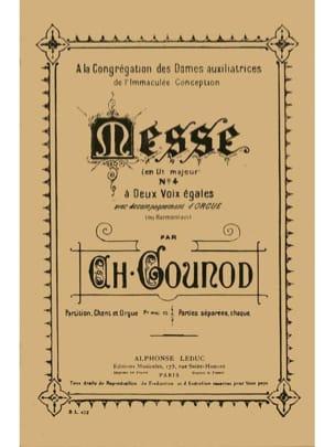 Messe N°4. GOUNOD Partition Chœur - laflutedepan