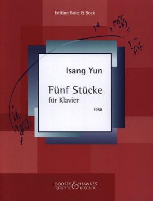 5 Stücke 1958 Isang Yun Partition Piano - laflutedepan