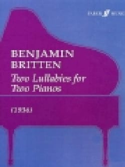 2 Lullabies For 2 Pianos BRITTEN Partition Piano - laflutedepan