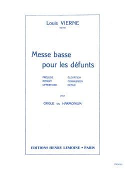 Messe Basse pour les Défunts Opus 62 VIERNE Partition laflutedepan