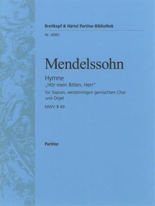 Hymne Hör Mein Bitten, Herr MENDELSSOHN Partition Chœur - laflutedepan