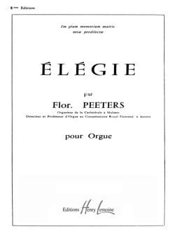Elégie Op. 38 - Flor Peeters - Partition - Orgue - laflutedepan.com