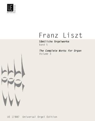 Oeuvre d'Orgue Volume 5 LISZT Partition Orgue - laflutedepan