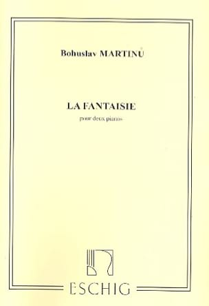 La Fantaisie. 2 Pianos MARTINU Partition Piano - laflutedepan