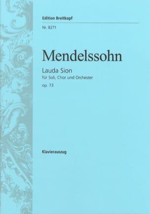 Lauda Sion Opus 73 MENDELSSOHN Partition Chœur - laflutedepan