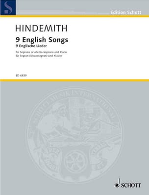 9 English Songs 1942-44 HINDEMITH Partition Mélodies - laflutedepan