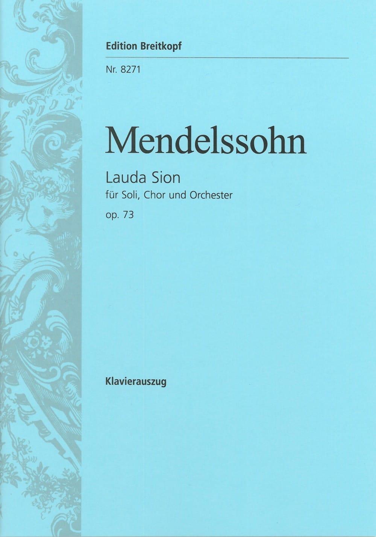 Lauda Sion Opus 73 - MENDELSSOHN - Partition - laflutedepan.com