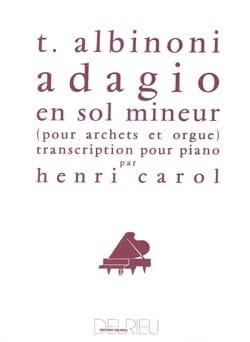 Tomaso Albinoni - Adagio en Sol Menor. piano - Partition - di-arezzo.es
