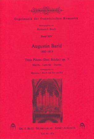 3 Pièces op. 7 - Augustin Barié - Partition - Orgue - laflutedepan.com