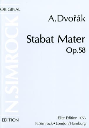 Stabat Mater Opus 58 DVORAK Partition Chœur - laflutedepan