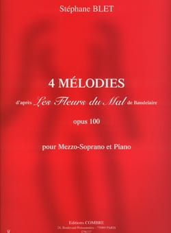 4 Mélodies Op. 100 Stéphane Blet Partition Mélodies - laflutedepan
