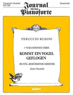 5 Variations Sur kommt Ein Vogel Geflogen - BUSONI - laflutedepan.com