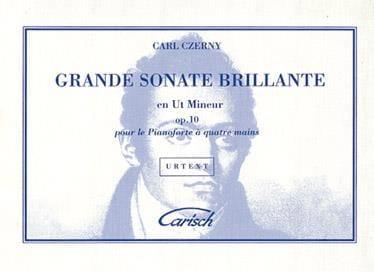 Sonate op. 10. 4 mains - CZERNY - Partition - Piano - laflutedepan.com