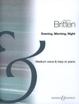 Evening, Morning, Night BRITTEN Partition Harpe - laflutedepan