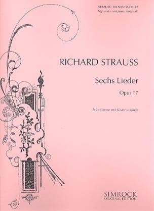 6 Lieder Opus 17 Richard Strauss Partition Mélodies - laflutedepan