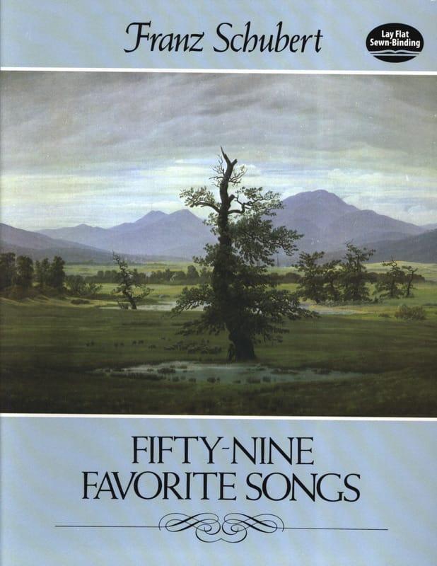 59 Favorite Songs - SCHUBERT - Partition - Mélodies - laflutedepan.com