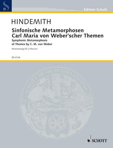 Sinfonische Metamorphosen. 2 Pianos - HINDEMITH - laflutedepan.com