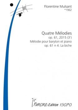4 Mélodies op.61-4 Florentine Mulsant Partition laflutedepan