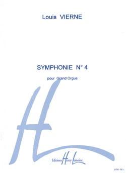 Symphonie N°4 Opus 32 VIERNE Partition Orgue - laflutedepan