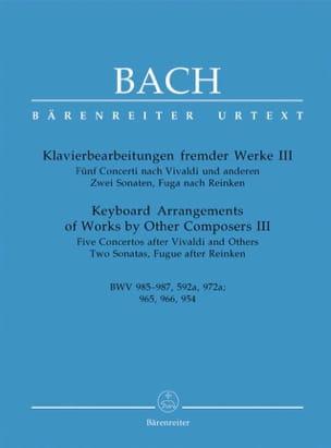 5 Concertos Et Autres Pièces BACH Partition Piano - laflutedepan