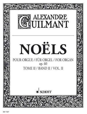 Noëls Volume 2 Opus 60 - Alexandre Guilmant - laflutedepan.be