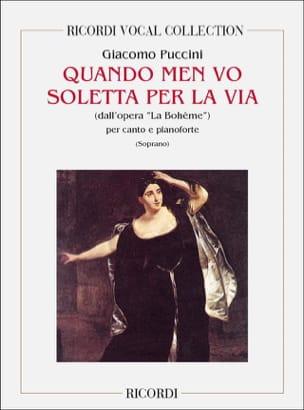 Giacomo Puccini - When Men Vo Soletta Per Via. Bohemian - Partition - di-arezzo.co.uk