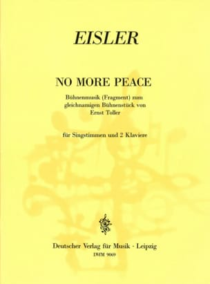 No More Peace - Hanns Eisler - Partition - Mélodies - laflutedepan.com