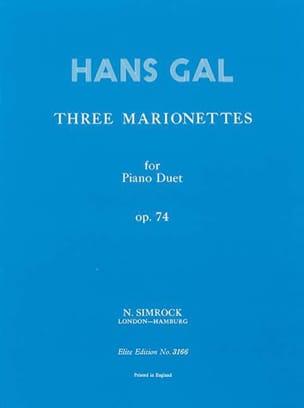 3 Marionnettes Op. 74. 4 Mains - Gal - Partition - laflutedepan.com