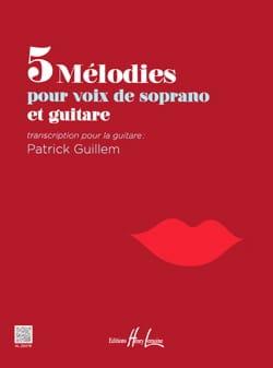 5 mélodies pour soprano et guitare Partition Guitare - laflutedepan