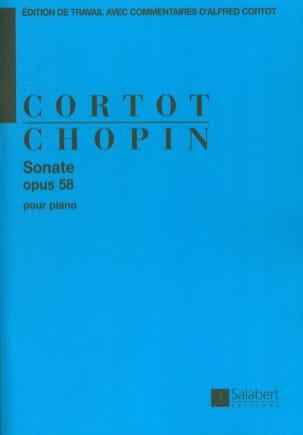 Sonate en Si mineur Opus 58. CHOPIN Partition Piano - laflutedepan
