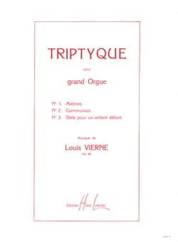 Triptyque Opus 58 VIERNE Partition Orgue - laflutedepan