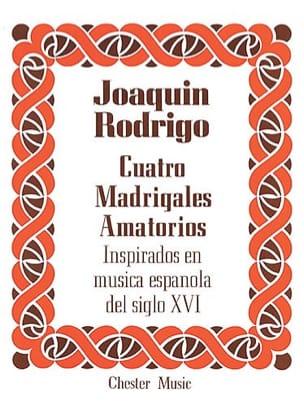 4 Madrigales Amatorios. Voix Haute RODRIGO Partition laflutedepan
