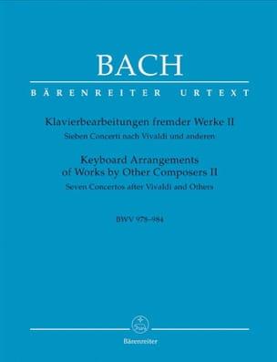 7 Concertos D'après Vivaldi Et Autres Volume 2 BACH laflutedepan