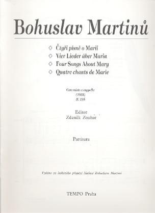 Vier Lieder über Maria MARTINU Partition Chœur - laflutedepan