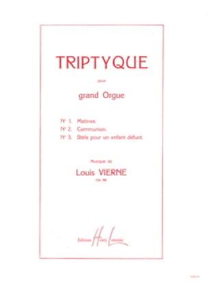 Triptyque Opus 58 - VIERNE - Partition - Orgue - laflutedepan.com