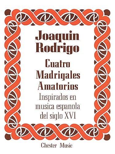 4 Madrigales Amatorios. Voix Haute - RODRIGO - laflutedepan.com