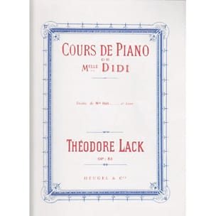 Théodore Lack - Studies of Miss Didi Opus 85 Book 2 - Partition - di-arezzo.com