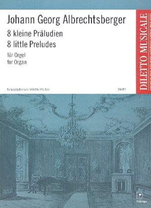 8 Kleine Präludien Johann Georg Albrechtsberger Partition laflutedepan