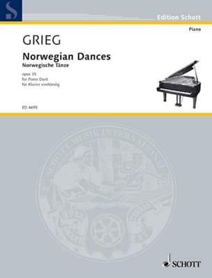 Danses Norvégiennes Opus 35. 4 Mains GRIEG Partition laflutedepan