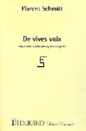 De Vives Voix Opus 131 - Florent Schmitt - laflutedepan.com