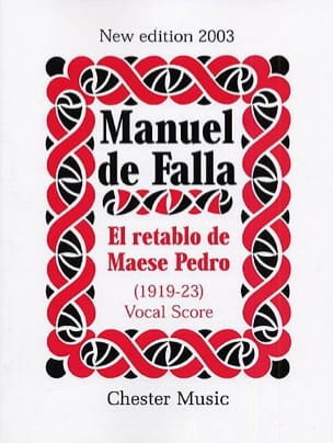 El Retablo de Maese Pedro. DE FALLA Partition Opéras - laflutedepan