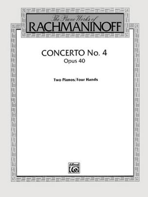 Concerto Pour Piano N° 4 Opus 40 RACHMANINOV Partition laflutedepan